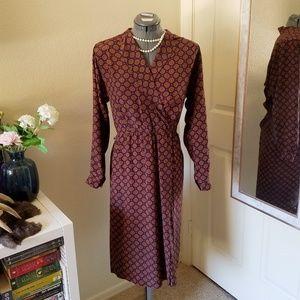 Vintage 100% Silk Liz Claiborne Dress with Slit